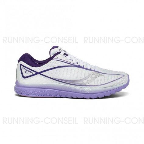 SAUCONY KINVARA 10 Femme   White / Purple