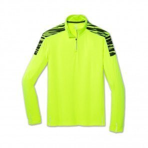 BROOKS Tee-Shirt Manches Longues 1/2 Zip Homme   Nightlife